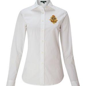 Lauren Ralph Lauren Alie Long Sleeve Shirt Crest M